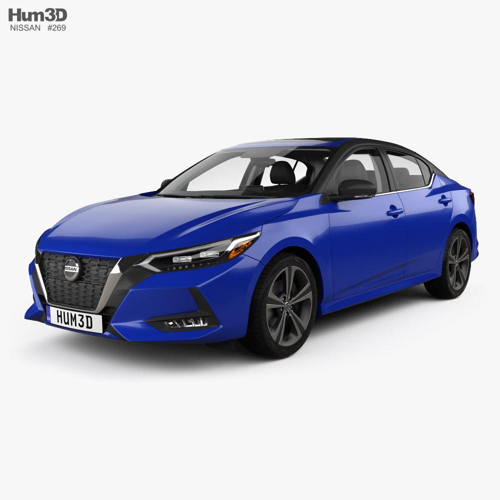 Nissan Sentra SR with HQ interior 2020 3D model