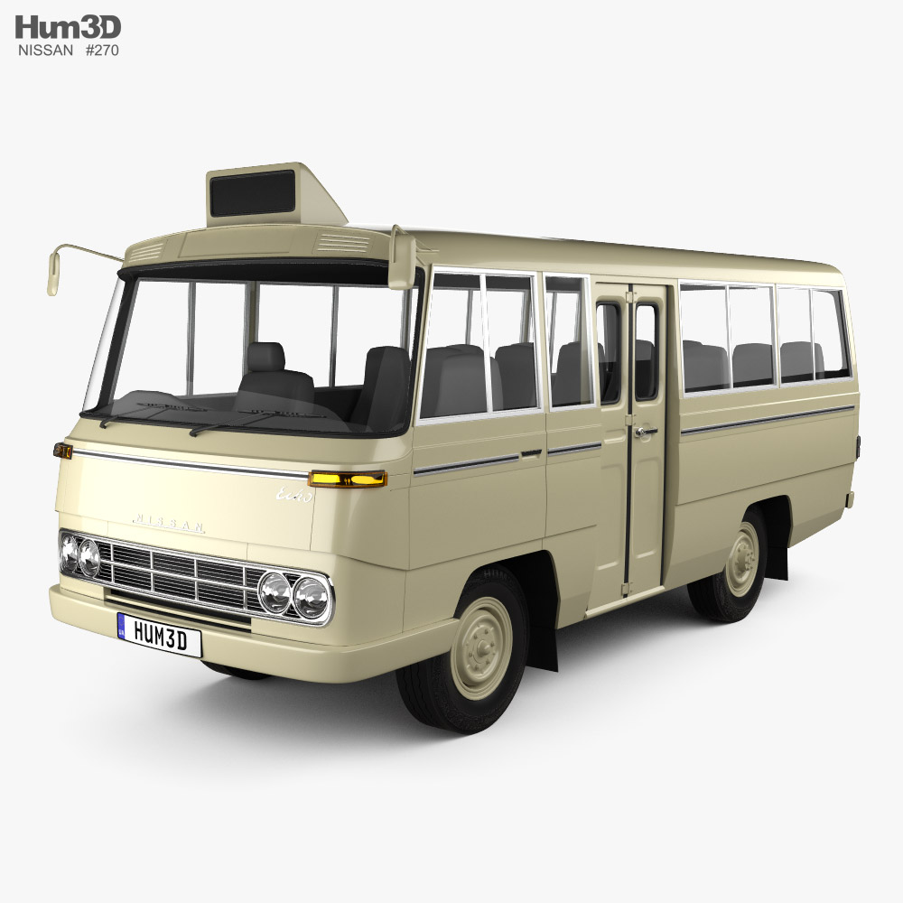 Nissan Echo Bus 1969 3D model