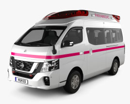 Nissan NV350 Ambulance 2021 Modelo 3D