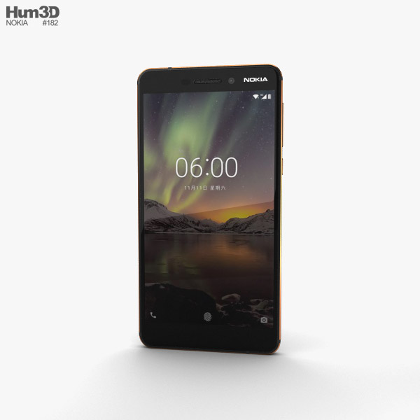 3D model of Nokia 6 (2018) Black