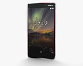 3D model of Nokia 6 (2018) Silver