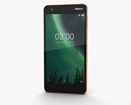 3D model of Nokia 2 Copper Black