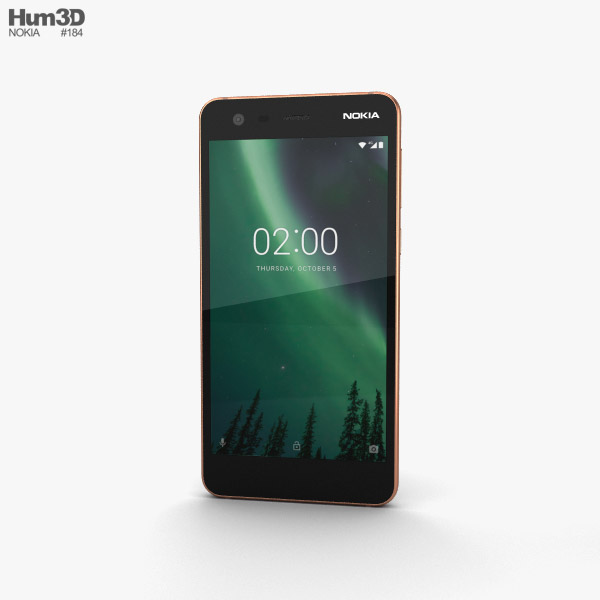 Nokia 2 Copper Black 3D model