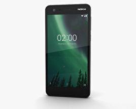 3D model of Nokia 2 Pewter Black