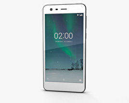 3D model of Nokia 2 Pewter White