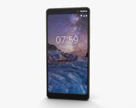 3D model of Nokia 7 Plus Black