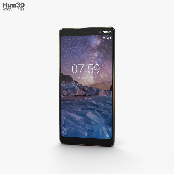 Nokia 7 Plus Black 3D model