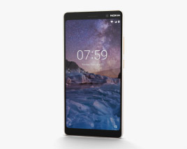 Nokia 7 Plus White 3D model