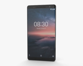 3D model of Nokia 8 Sirocco Black