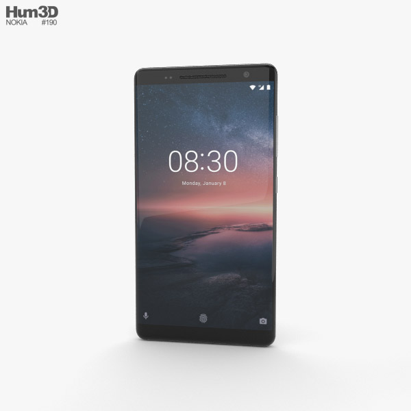 Nokia 8 Sirocco Black 3D model