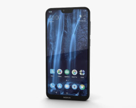 3D model of Nokia X6 Black
