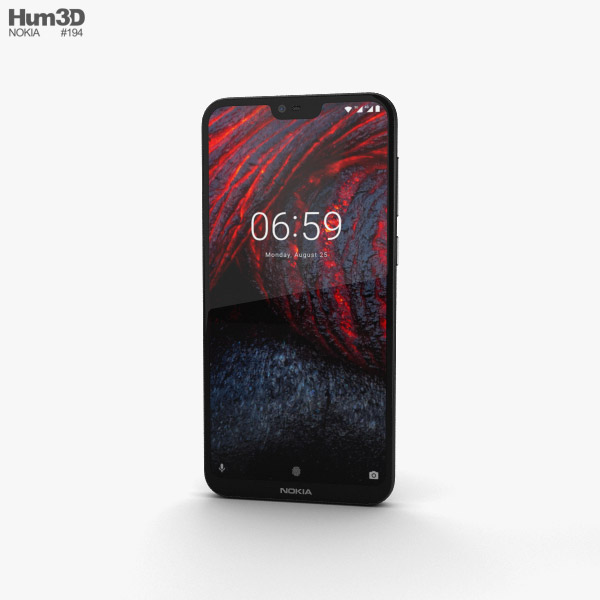 3D model of Nokia 6.1 Plus Black