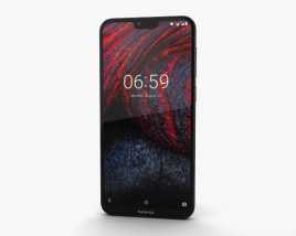 3D model of Nokia 6.1 Plus Blue
