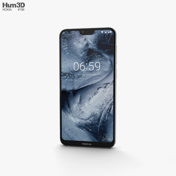 3D model of Nokia 6.1 Plus White