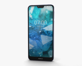 3D model of Nokia 7.1 Gloss Midnight Blue