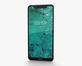 3D model of Nokia 5.1 Plus Glacier White