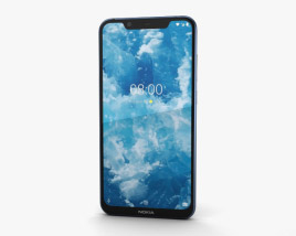 3D model of Nokia 8.1 Blue Silver