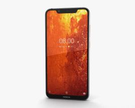 3D model of Nokia 8.1 Steel Copper