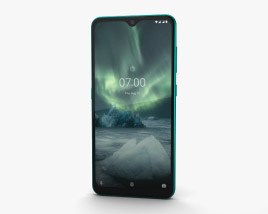 3D model of Nokia 7.2 Cyan Green