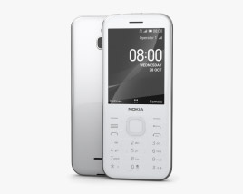 Nokia 8000 4G Opal White 3D model