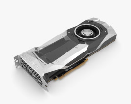 3D model of NVidia GeForce GTX 1080 TI