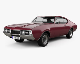 3D model of Oldsmobile Cutlass 442 (3817) Holiday coupe 1966