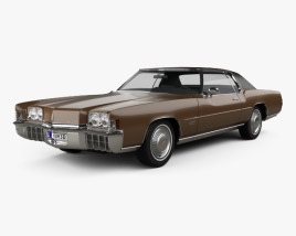 3D model of Oldsmobile Toronado (Y57) 1972