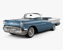 3D model of Oldsmobile Starfire 98 Convertible 1957