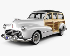3D model of Oldsmobile Special 66/68 station wagon 1947