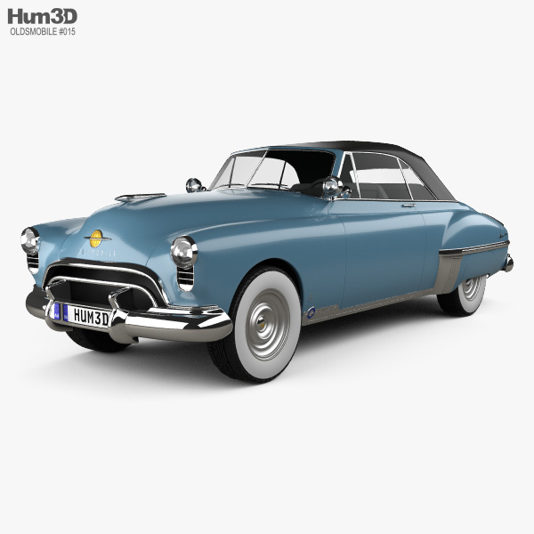 3D model of Oldsmobile 88 Futuramic Convertible 1949