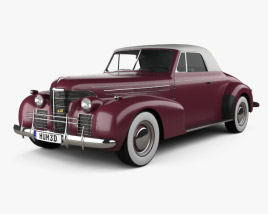 3D model of Oldsmobile 80 Convertible 1939