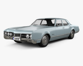 3D model of Oldsmobile 88 Delmont sedan 1967