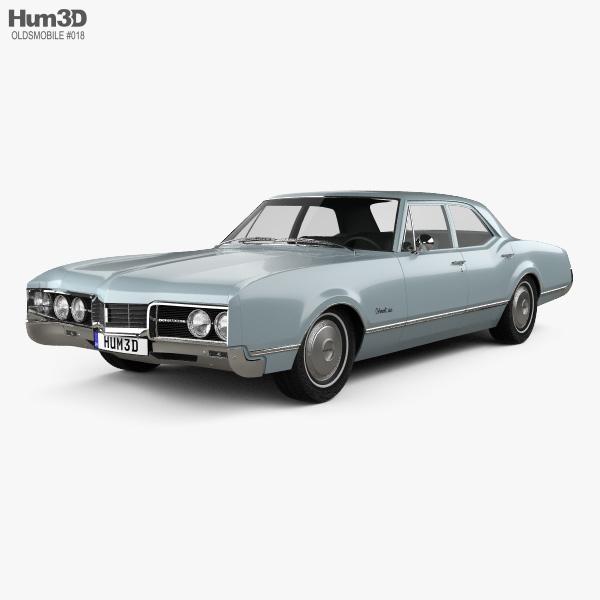 Oldsmobile 88 Delmont sedan 1967 Modèle 3D