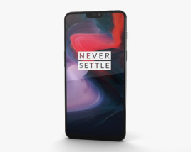 3D model of OnePlus 6 Midnight Black