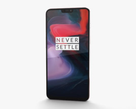3D model of OnePlus 6 Silk White