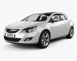 3D model of Opel Astra J 2011