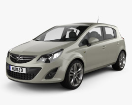 3D model of Opel Corsa D 5-door 2011