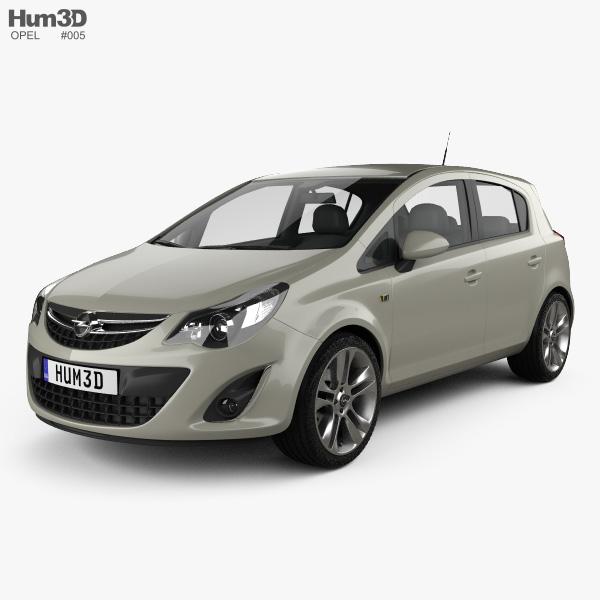 Opel Corsa D 5-door 2011 3D model