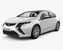 3D model of Opel Ampera 2011
