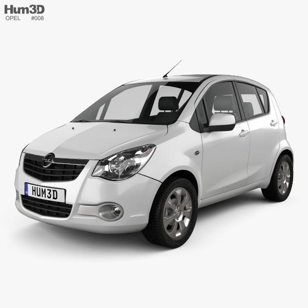 Opel Agila 2008 3D model