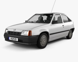 3D model of Opel Kadett E Hatchback 3-door 1984-1991