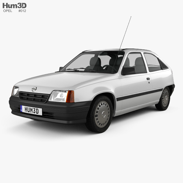 Opel Kadett E hatchback 3-door 1984-1991 3D model