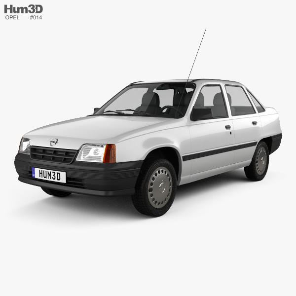 Opel Kadett E sedan 1984-1991 3D model