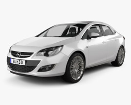 3D model of Opel Astra J sedan 2012