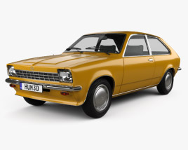 3D model of Opel Kadett City 1975