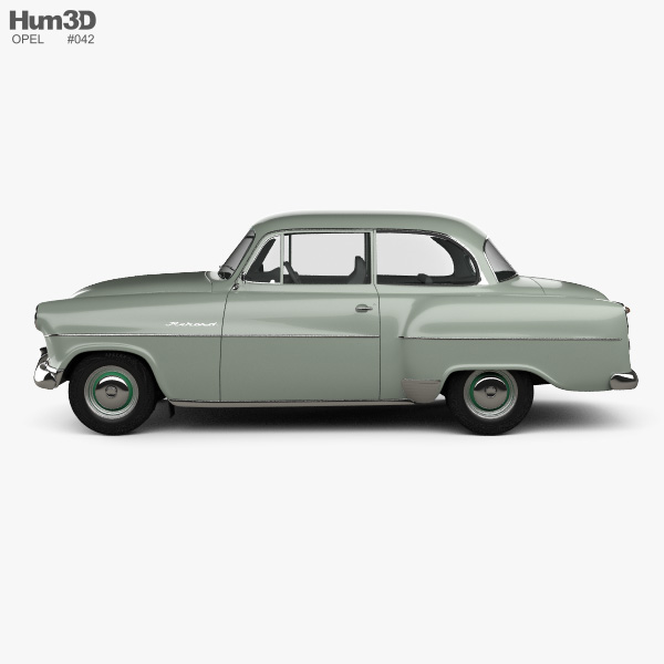 Opel Olympia Rekord 1956 3D model