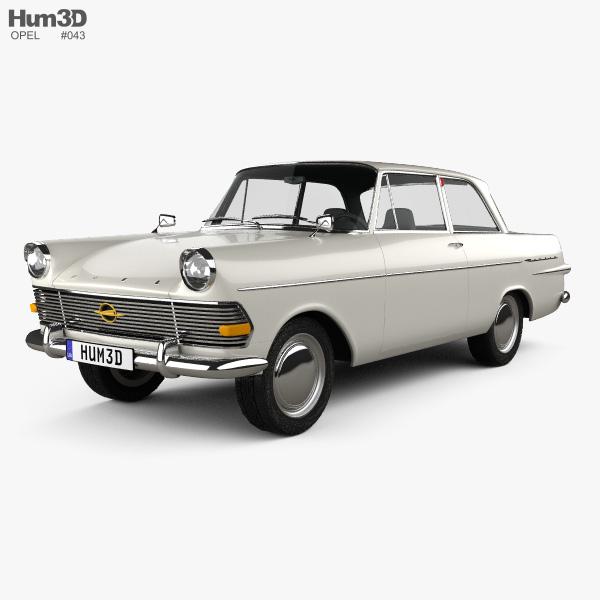 3D model of Opel Rekord (P2) 2-door sedan 1960