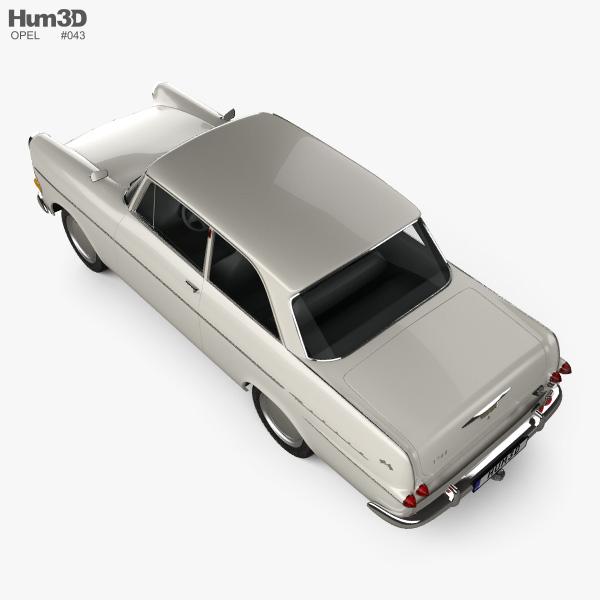 Opel Rekord (P2) 2-door sedan 1960 3D model