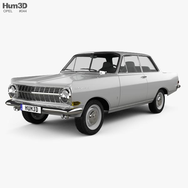 3D model of Opel Rekord (A) 2-door sedan 1963