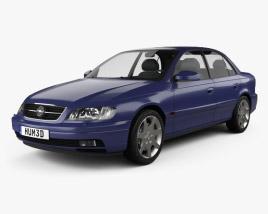 3D model of Opel Omega (B) sedan 1999
